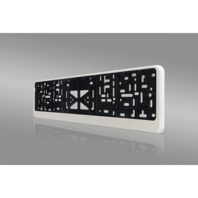 Рамка номерного знака «Стандарт», с защелкой, цвет белый, серый, черный