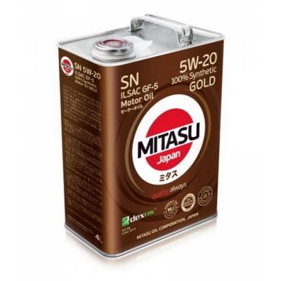 MJ-100. MITASU GOLD SN 5W-20 ILSAC GF-5 100% Synthetic