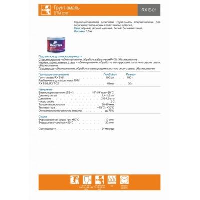 Грунт-эмаль DTM Coat RX E-01